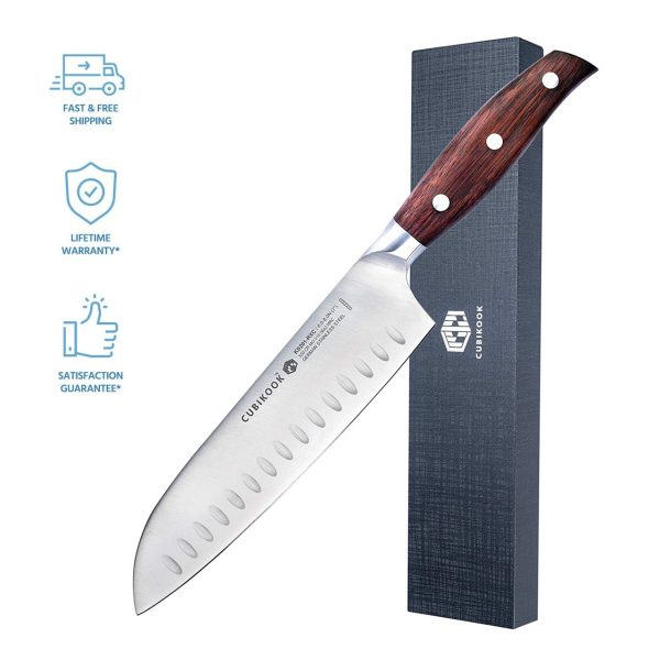 Cubikook Forged Santoku Knife 7 Inch with luxury box